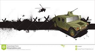 military hummer jeep in grune style stock illustration image