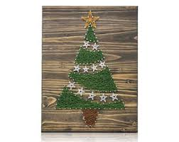 Arts And Crafts Christmas Tree - string art tree etsy