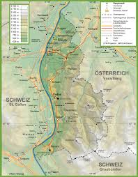 Topography Map Topographic Map Of Liechtenstein