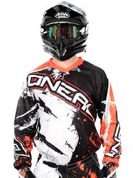 oneal element motocross boots oneal black orange 2018 element shocker mx jersey oneal