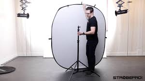 collapsible backdrop 5 x7 white black folding backdrop