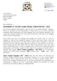 Football Cover Letter Concert Sponsorship Proposal Template Virtren Com
