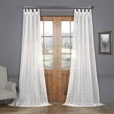 White Polka Dot Sheer Curtains Polka Dot Curtains Drapes Birch