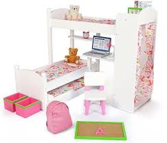 18 Inch Doll Bunk Bed 18 Inch Doll Bunk Beds W Trundle And Accessory