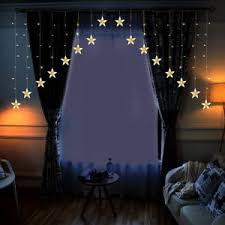 Christmas Wedding Decor - 10ft led star string fairy light window curtain lights christmas