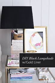 diy black painted lampshade with gold liner monica wants it