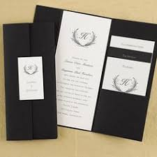 tri fold wedding invitations trifold black wedding invitations set the stage for your
