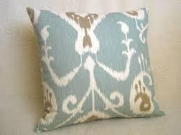 Light Blue Decorative Pillows