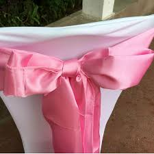 pink chair sashes by dhl light pink color 100 pcs lot 6 x108 chair bands satin