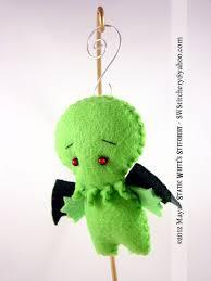huggy cthulhu ornament pocket sized mini doll