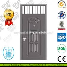single iron safety door design with grill buy safety door design
