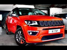 red jeep compass interior india s first modified all new jeep compass in coimbatore watch full