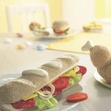 cuisine haba haba biofino baguette sandwich fabric play food toyjeanius