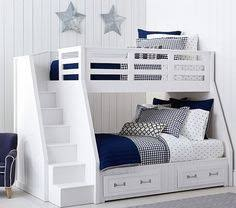 Boys Bunk Beds Gray Bunk Beds With Stairs Storage Drawers And Bed Storage