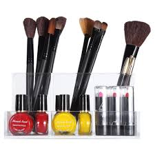 acrylic makeup brushes organizer pen stand cosmetic storage office