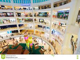 interior of suria klcc shopping mall malaysia editorial image