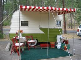 Trailer Awning Fabric Replacement Camping An Awning For Your Vintage Trailer