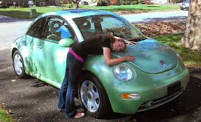 pink punch buggy car my inside voices what u0027s it cost to own the world u0027s most adorable car