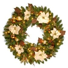 decorated pre lit wreaths wreaths land
