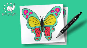 kids coloring pages to learn colors giant butterfly coloring