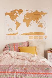 World Map Duvet Cover by Xl World Scratch Map Urban Outfitters