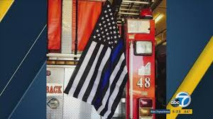 Flag Displays Solidarity Flag Displayed On Moreno Valley Firetruck Ordered To Be