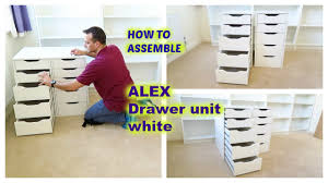 ikea alex drawer unit assembly youtube