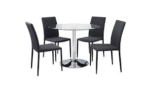Asda Direct Armchairs Wyatt Glass Circle Table And 4 Fabric Grey Chairs Dining Tables