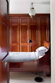wooden built in wardrobe small bedroom design ideas