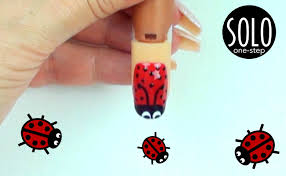 solo lady bug lady bird nail art youtube