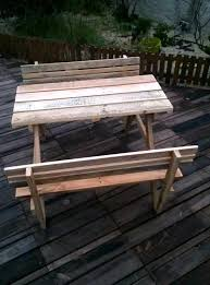 Build A Picnic Table Cost by Build Pallet Picnic Table With Backrest 99 Pallets