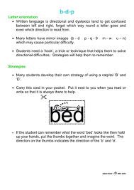 dyslexia letter orientation strategy b d and p by ebd35