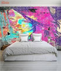 popular wall mural print buy cheap wall mural print lots from abstract graffiti brick 3d room wallpaper female face for 3d livingroom photo wall paper prints kids