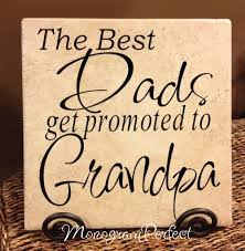 great dads get promoted to parent name decorative tiles monogramperfect