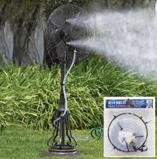 outdoor garden patio fan water misting kit walmart com