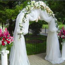 wedding arches decorated with flowers arch ceremony decoration tradesy