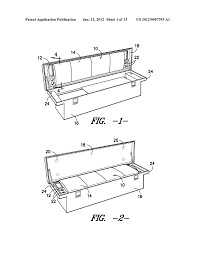 toolbox seat for pickup truck bed diagram schematic and image 02
