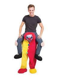scary clown costumes piggy back scary clown costume af015 fancy dress