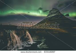 northern lights iceland april iceland april 15 spectacular northern lights stock photo 633446897