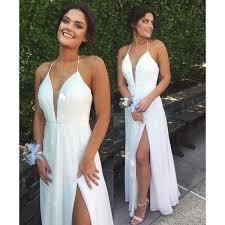 white party dresses prom dresses prom dresses white prom dresses halter split
