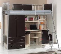 Metal Frame Loft Bed With Desk Metal Frame Iron Tube Wall Bed With Desk College Dorm Loft Beds