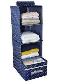 Bluedot Furniture Amazon Com 4 Shelf Hanging Closet Organizer With Drawer Thick