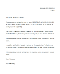 sample letter of resignation 9 free documents in pdf doc