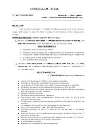 Project Management Resume Template Resume Example Telecommunication Engineer Resume Ixiplay Free