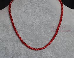 red necklace women images Red bead necklace etsy jpg
