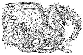 dragon art coloring pages funycoloring