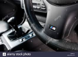 bmw m sport steering wheel and manual gear stick in an e46 3
