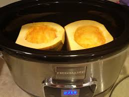thanksgiving crock pot recipes easy acorn squash in the slow cooker