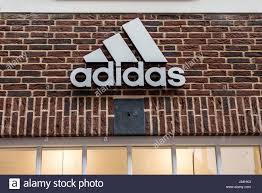roermond netherlands 07 05 2017 logo of the adidas brick house
