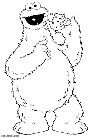 Printable Cookie Monster Coloring Pages For Kids Cool2bkids Coloring Cookies